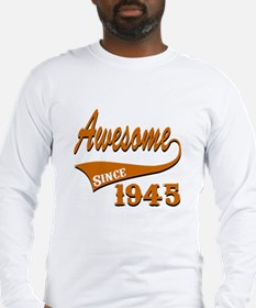 Awesome Since 1941 Birthday De Long Sleeve T-Shirt