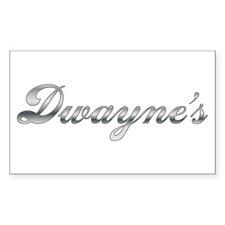 Dwayne First Name Personalized Sticker (Rectangula