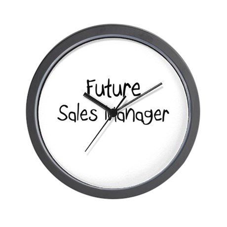 Future Sales Manager Wall Clock