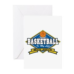 Basketball Is My Life Greeting Cards (Pk of 20)