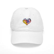 SICILIA U.S.A HEART Baseball Cap