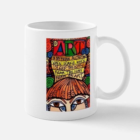 Art Brain Mug Mugs