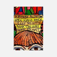 Art Brain Rectangle Magnet (10 pack)