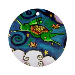 Marcy Hall's Green Wind Rabbi Ornament (Round)