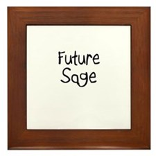 Future Sage Framed Tile