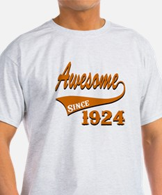 Awesome Since 1924 Birthday Designs T-Shirt