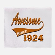 Awesome Since 1924 Birthday Designs Throw Blanket