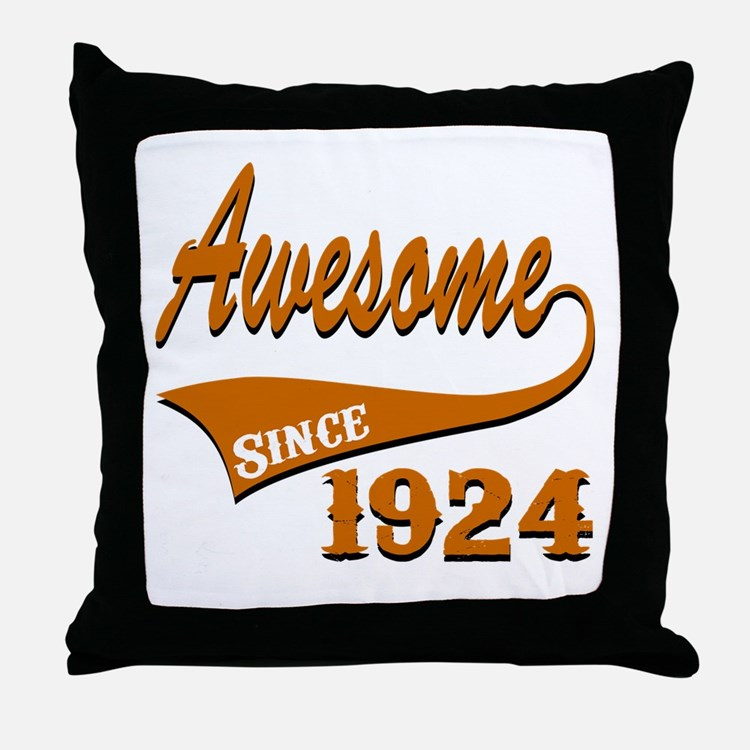 Awesome Since 1924 Birthday Designs Throw Pillow
