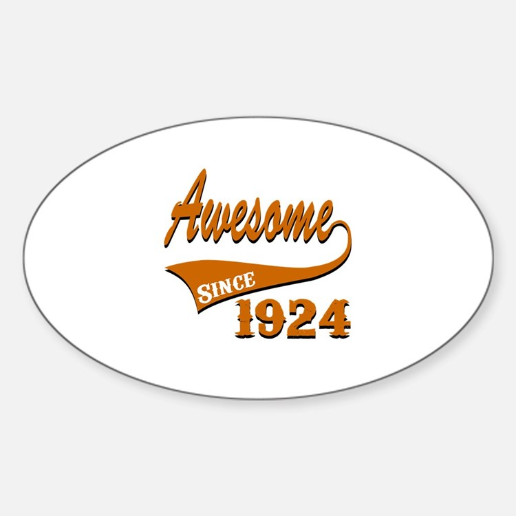 Awesome Since 1924 Birthday Designs Decal