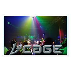 LaCage Dancefloor Full Rectangle Sticker