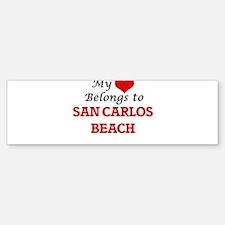 My Heart Belongs to San Carlos Beac Bumper Bumper Bumper Sticker