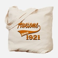 Awesome Since 1921 Birthday Designs Tote Bag