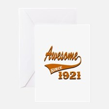 Awesome Since 1921 Birthday Designs Greeting Card