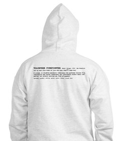 Volunteer Firefighter Definition Hoodie