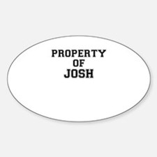 Property of JOSH Decal