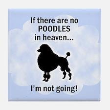 Standard Poodles In Heaven Tile Coaster