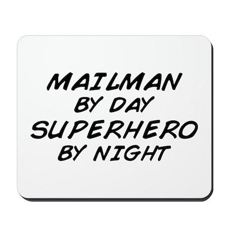 Mailman Day Superhero Night Mousepad