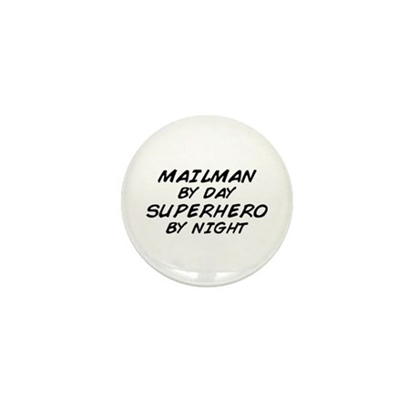 Mailman Day Superhero Night Mini Button