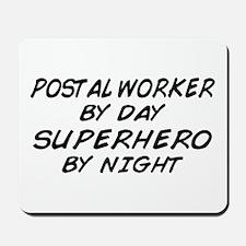 Postal Worker Day Superhero Night Mousepad