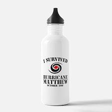 I Survived Hurricane M Water Bottle