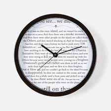 Cute Hurley lost Wall Clock
