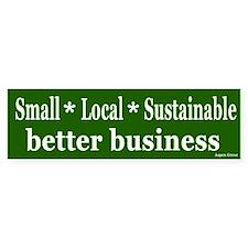 Local Sustainable Business Bumper Bumper Sticker