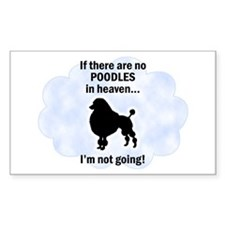 Miniature Poodles In Heaven Rectangle Decal
