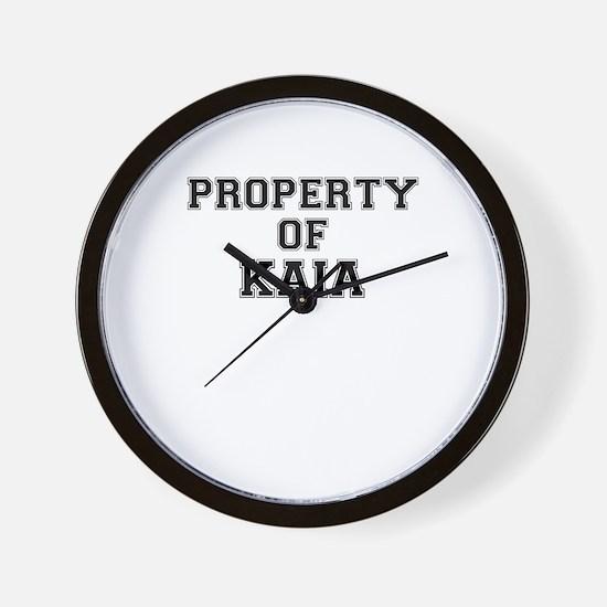 Property of KAIA Wall Clock