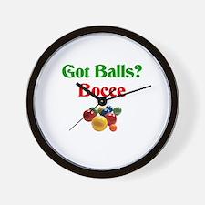 Got Balls? Bocce Wall Clock