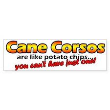 Potato Chips Cane Corso Bumper Bumper Sticker