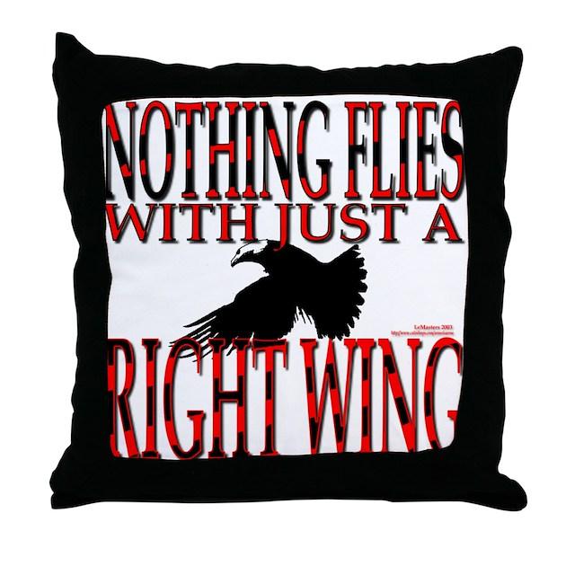 Right Wing Myth Throw Pillow by aroseisarose
