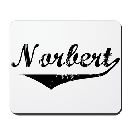 Norbert Vintage (Black) Mousepad