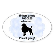 Toy Poodles In Heaven Oval Decal
