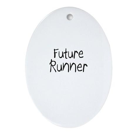 Future Runner Oval Ornament