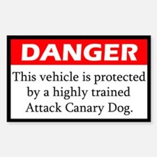 Attack Canary Dog Decal