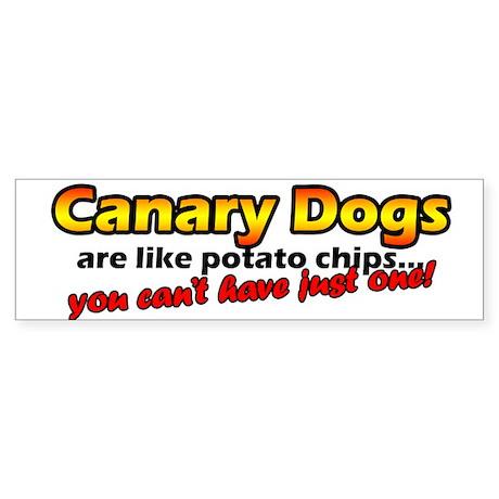 Potato Chips Canary Dog Bumper Sticker
