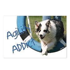 Australian Shepherd 2 Agility Artwork Postcards (P