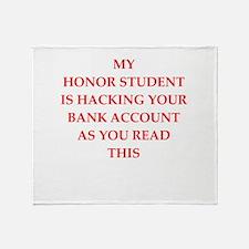 hacking Throw Blanket