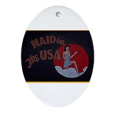 Maid N USA Oval Ornament