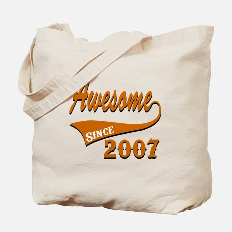 Awesome Since 2007 Birthday Designs Tote Bag