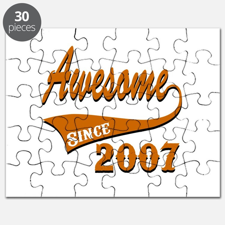 Awesome Since 2007 Birthday Designs Puzzle