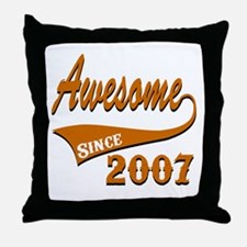 Awesome Since 2007 Birthday Designs Throw Pillow