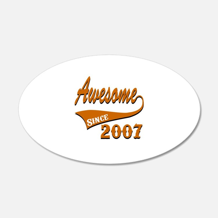 Awesome Since 2007 Birthday Wall Decal