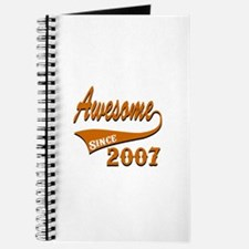 Awesome Since 2007 Birthday Designs Journal