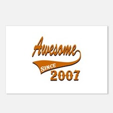 Awesome Since 2007 Birthd Postcards (Package of 8)