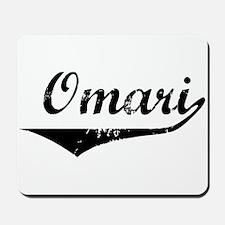 Omari Vintage (Black) Mousepad