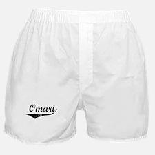 Omari Vintage (Black) Boxer Shorts