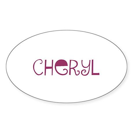 Cheryl Oval Sticker