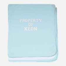 Property of KEON baby blanket