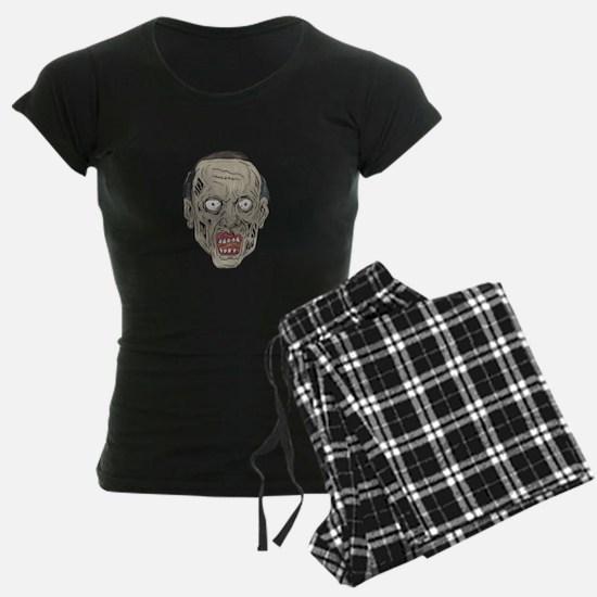 Zombie Head Front Drawing Pajamas